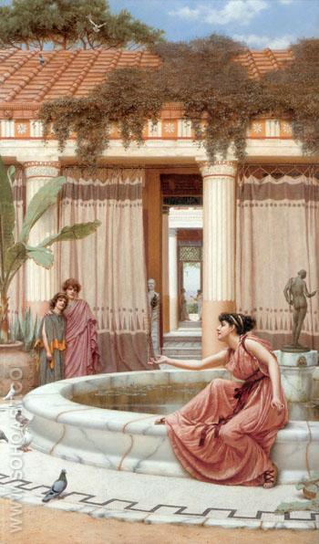 Innocent Amuseuments 1891 - John William Godward reproduction oil painting
