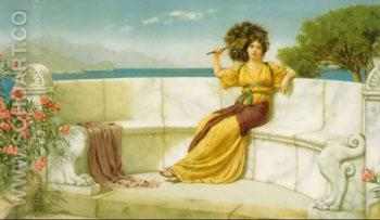In The Prime of the Summer Time 1915 - John William Godward reproduction oil painting
