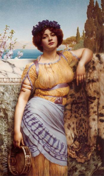 Ionian Dancing Girl 1902 - John William Godward reproduction oil painting