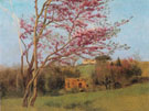 Landscape Blossoming Red Almond Study c1912 - John William Godward
