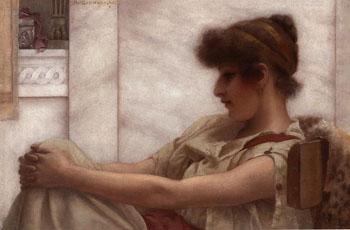 Reverie 1888 - John William Godward reproduction oil painting