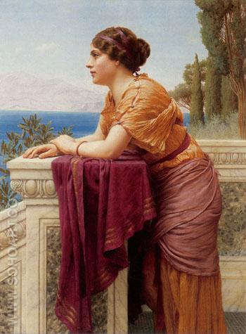 The Belvedere 1913 - John William Godward reproduction oil painting