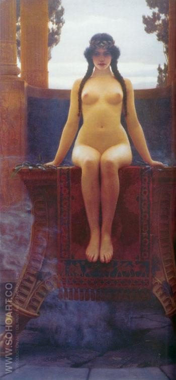 The Delphic Oracle 1899 - John William Godward reproduction oil painting