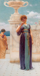 The Engagement Ring c1891 - John William Godward reproduction oil painting