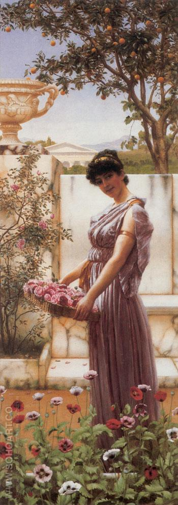 The Flowers of Venus 1890 - John William Godward reproduction oil painting