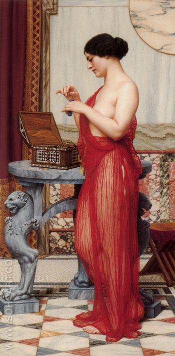 The New Perfume 1914 - John William Godward reproduction oil painting