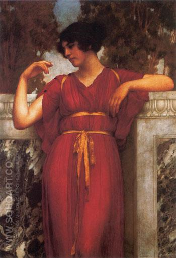 The Ring 1898 - John William Godward reproduction oil painting