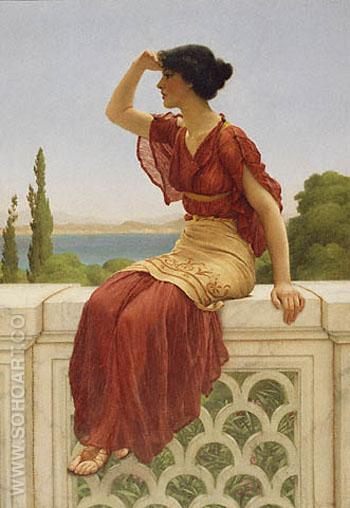 The Signal 1899 - John William Godward reproduction oil painting