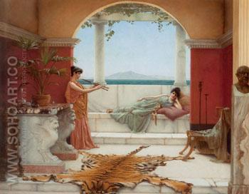 The Sweet Siesta of a Summer Day 1891 - John William Godward reproduction oil painting
