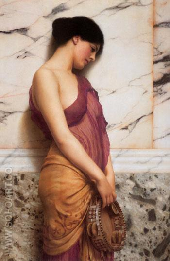 The Tambourine Girl 1906 - John William Godward reproduction oil painting
