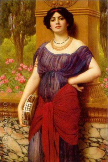 Tympanistria 1909 - John William Godward reproduction oil painting