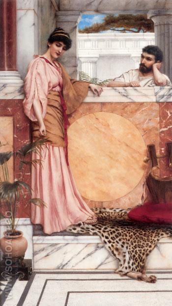 Waiting for an Answer 1889 - John William Godward reproduction oil painting