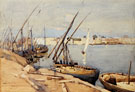 A Harbor in Cairo - Arthur Melville