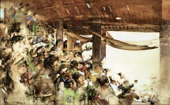 A Spanish Bullfight - Arthur Melville reproduction oil painting
