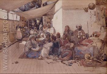 Pilgrims on the Way to Mecca 1882 - Arthur Melville reproduction oil painting