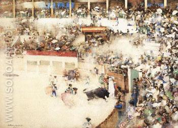 The Little Bullfight - Arthur Melville reproduction oil painting
