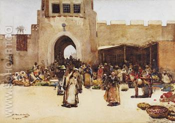 The North Gate Baghdad 1882 - Arthur Melville reproduction oil painting