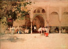 Waiting for the Sultan Morocco - Arthur Melville