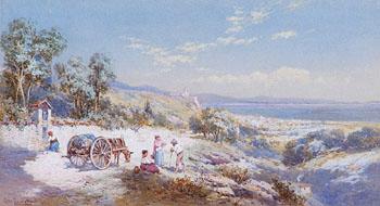 Italian Lake Scenes - Charles Rowbotham reproduction oil painting