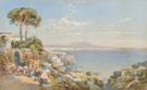 The Bay of Naples with Figures and Donkeys 1892 - Charles Rowbotham