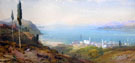View of The Bosphorus - Charles Rowbotham reproduction oil painting