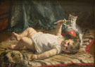 Infant and Kitten - Edgard Farasyn