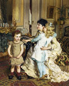 Motherly Love - Edgard Farasyn reproduction oil painting