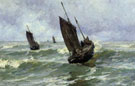 Off to the Fishing Grounds - Edgard Farasyn reproduction oil painting
