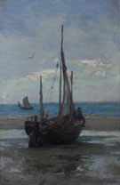 Pannepot on the Beach - Edgard Farasyn reproduction oil painting