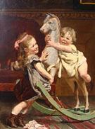 The Rocking Horse 1878 - Edgard Farasyn reproduction oil painting