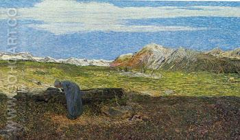 Alpenlandschaft - Giovanni Segantini reproduction oil painting