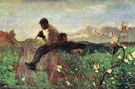 An Idyll 1882 - Giovanni Segantini reproduction oil painting