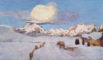 Death - Giovanni Segantini reproduction oil painting