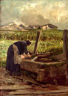 Die Waesche - Giovanni Segantini reproduction oil painting