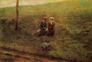 Landscape with Two Figures 1897 - Giovanni Segantini