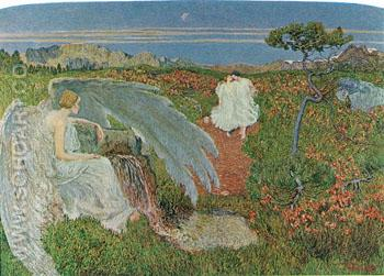 Love at The Source of Life - Giovanni Segantini reproduction oil painting