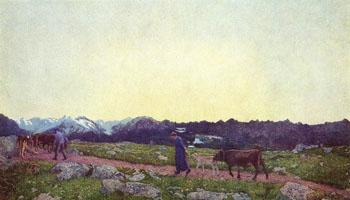 Nature - Giovanni Segantini reproduction oil painting