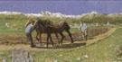 Ploughing - Giovanni Segantini reproduction oil painting