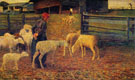Ritorno All Ovile - Giovanni Segantini reproduction oil painting