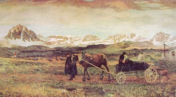 Ritorno Al Paese Natio - Giovanni Segantini reproduction oil painting