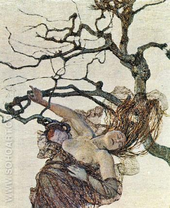 The Bad Mothers - Giovanni Segantini reproduction oil painting