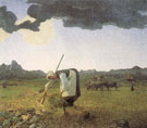 The Hay Harvest - Giovanni Segantini