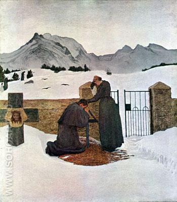 The Pain of Mourning - Giovanni Segantini reproduction oil painting
