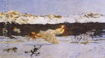 The Punishment of Lust - Giovanni Segantini reproduction oil painting