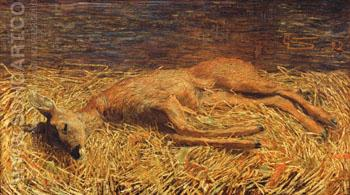 Totes Reh - Giovanni Segantini reproduction oil painting