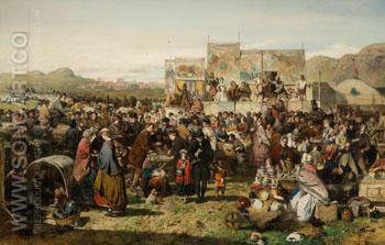 A Border Fair - John Ritchie reproduction oil painting