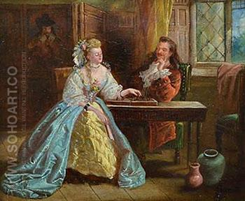 A Game of Chess - John Ritchie reproduction oil painting