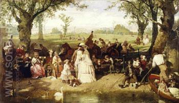 A Summer Day in Hyde Park London - John Ritchie reproduction oil painting