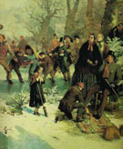 Detail from A Winters Day in St James Park - John Ritchie reproduction oil painting