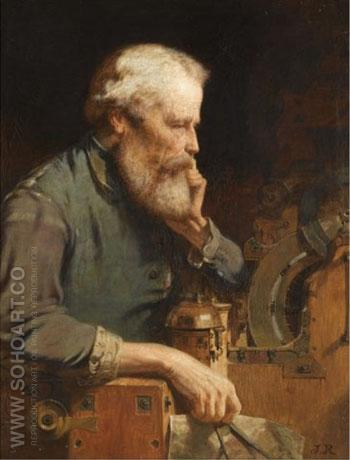 The Inventor - John Ritchie reproduction oil painting